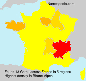 Surname Gathu in France