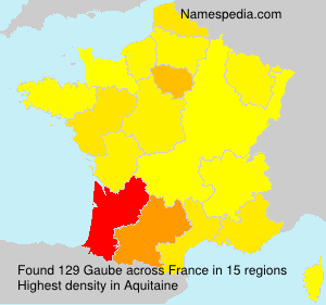 Surname Gaube in France