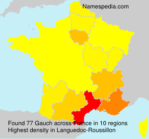 Surname Gauch in France