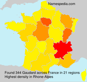 Surname Gaudard in France