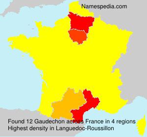 Surname Gaudechon in France