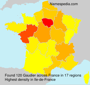 Surname Gaudier in France