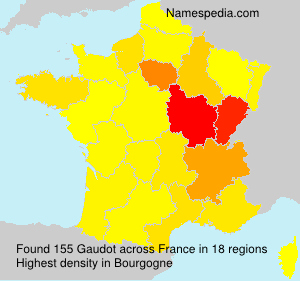 Surname Gaudot in France