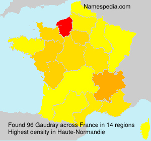 Surname Gaudray in France
