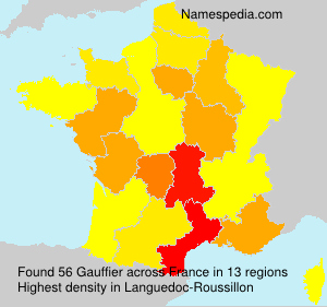 Surname Gauffier in France