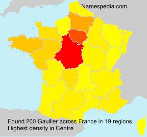 Surname Gaullier in France