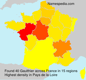 Surname Gaulthier in France