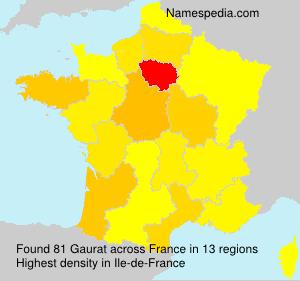 Surname Gaurat in France