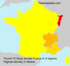 Familiennamen Gaus - France
