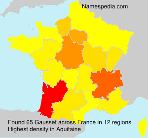 Surname Gausset in France