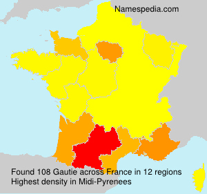 Surname Gautie in France