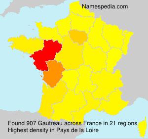 Surname Gautreau in France