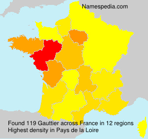 Surname Gauttier in France