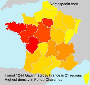 Surname Gauvin in France