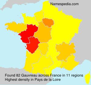 Familiennamen Gauvreau - France