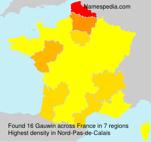 Surname Gauwin in France