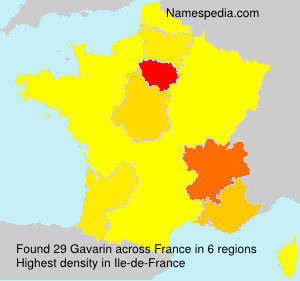 Surname Gavarin in France