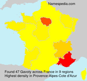 Surname Gavoty in France