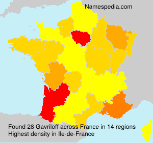 Surname Gavriloff in France