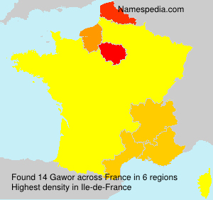 Surname Gawor in France