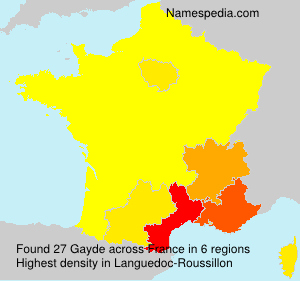 Surname Gayde in France