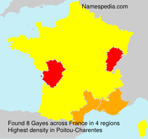 Surname Gayes in France