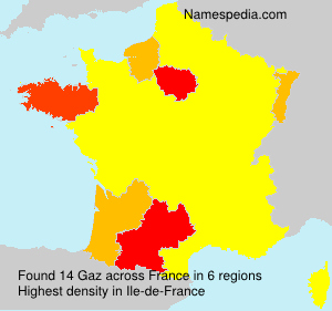 Surname Gaz in France