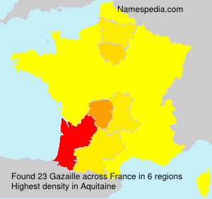 Surname Gazaille in France