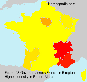 Surname Gazarian in France
