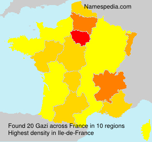 Surname Gazi in France