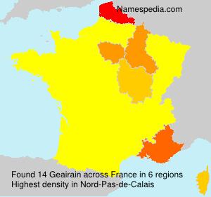 Surname Geairain in France