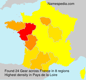 Surname Gear in France