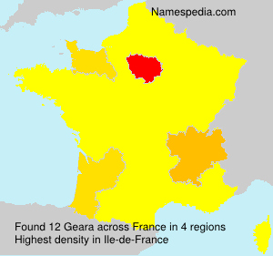 Surname Geara in France