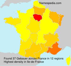 Surname Gebauer in France