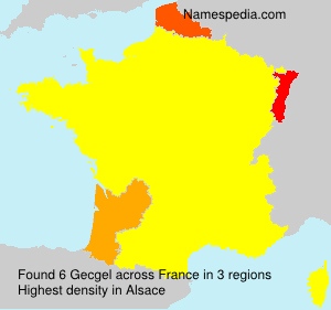 Surname Gecgel in France