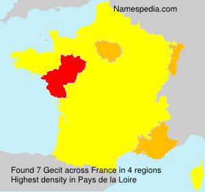Surname Gecit in France