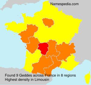 Surname Geddes in France