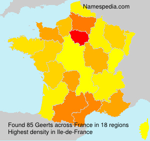 Surname Geerts in France