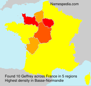 Surname Geffrey in France