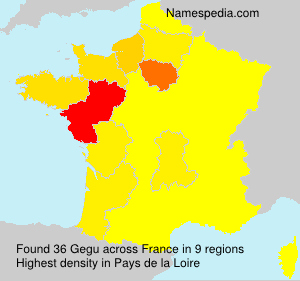 Surname Gegu in France