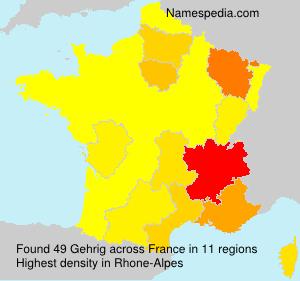 Surname Gehrig in France