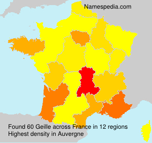 Surname Geille in France