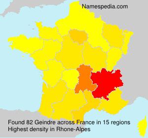 Familiennamen Geindre - France