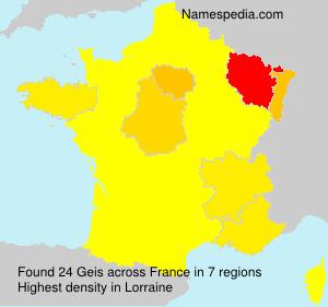 Familiennamen Geis - France
