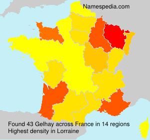 Surname Gelhay in France