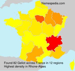 Familiennamen Geliot - France