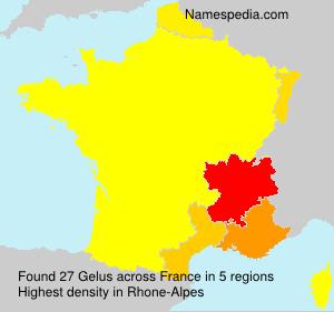 Familiennamen Gelus - France