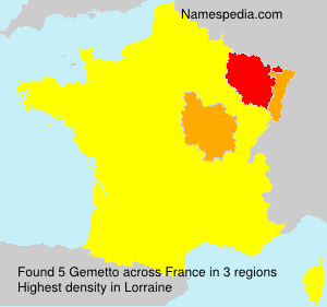 Familiennamen Gemetto - France
