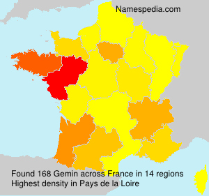 Surname Gemin in France