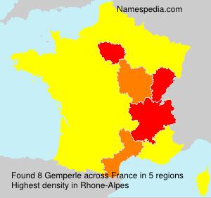 Surname Gemperle in France
